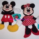 Disney Mickey Minnie Mouse Plush NWT applause Great Gift