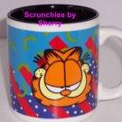 Garfield Coffee Mug Cat Ceramic Tea Paws Red Blue Teal