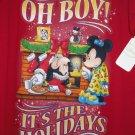 Disney Minnie Mickey Mouse Ladies Sleep Shirt Oh Boy Holiday Time Christmas OSFM
