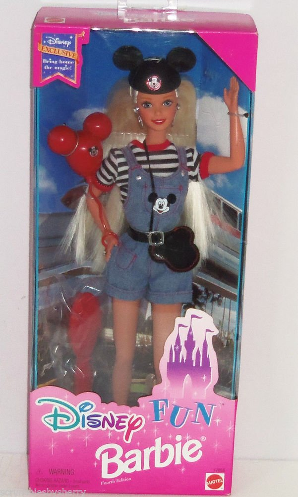 Disney Fun Barbie Doll Special Fourth Edition NRFB Mickey Mouse 1996