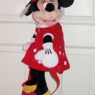 Disney Minnie Mouse Plush Backpack Kids Red Polka Dot Dress Theme Parks New