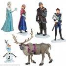 Disney Store Frozen Play Set Figure  Elsa Anna Olaf Sven Kristoff Cake Toppers