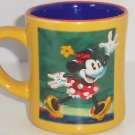 Disney Store Minnie Mouse Coffee Mug Gold Blue Tea Soup Hot Coca Cup Retired