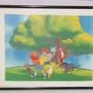 Disney Picture Winnie Pooh Tigger Piglet Eeyore Tree Day Time Framed Print