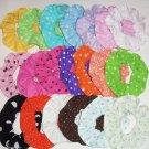 2 Polka Dots Dot Fabric Mini Hair Scrunchies You Choose