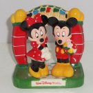 Disney Mickey Minnie Mouse Salt Pepper Shakers 3 Peice Set Theme Parks