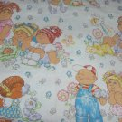 Cabbage Patch Kids Sheet Flat Flannel Vintage Craft Sewing Fabric 1983