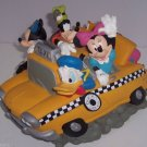 Disney Bank Taxi Cab Mickey Minnie Pluto Goofy Donald Coin Money Fab 5 Retired