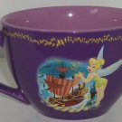 Disney Store Tinker Bell Coffee Mug Fairy Purple Pirate Ship Tink Cup  Retired
