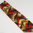 Grateful Dead Mens Neck Tie Necktie 1996 Back Drop First Set Red Green Gold