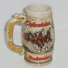 Budweiser Beer Stein 1983 Clydesdale Horses Promotional Vintage HTF Gift