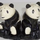 Giant Panda Bears Salt Peppers Shakers Stand Animal Collectible Vintage Japan