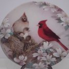 Cardinal Birds Plate Morning Serenade Nature's Poetry Series Collector Vintage