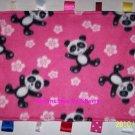 Teddy Bears Fleece Fabric Ribbon Tag Blanket  Baby Girls Boys Toy Shower Gift