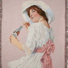 Coca Cola Coke Lady Tapestry Throw Blanket Woven