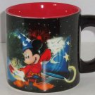 Disney Four Parks One World Mickey Mouse Coffee Mug Sorcerer Apprentice Ceramic