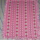 Breast Cancer Awareness Pink Ribbon Heart Hand Tie Fleece Baby Pet Lap Blanket