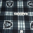 Las Vegas  Raiders Baby Blanket Plaid Pewter Black Fleece Pet Dog Lap NFL Football