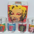 4 Marilyn Monroe Andy Warhol Glass Block 1997 Glasses  Old Fashion Collector