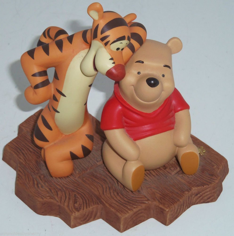Disney Winnie Pooh Tigger Figurine Thanks for being a Caring Sort of Bear