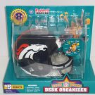 Denver Broncos Helmet Desk Organizer Riddell NFL Football Office Supplies