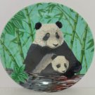 Giant Panda Bear Collector Plate Steven Shachter Crowne Artmark Japan Vintage