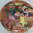 Disney Snow White Seven Dwarfs Collector Plate 1994 Christmas Dreams Vintage LE