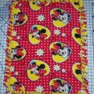 Disney Minnie Mouse Red Fleece Baby Blanket Hand Tied Pet Lap Shower Gift New