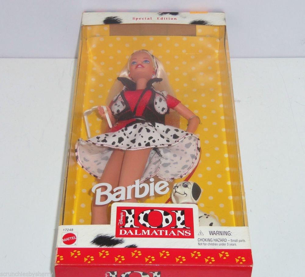 Disney 101  Dalmatians Barbie Doll Puppy  Dog  Spots 1997 Special Edition NRFB