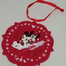Disney Minnie Mickey Mouse Sled Ornament Holiday Tree Theme Parks New