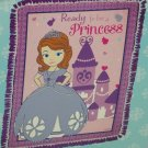 Disney Princess Sofia the First Fleece Throw Blanket Purple Pink Hand Tied