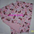 Disney Minnie Mouse Pink Flowers Burp Cloth Baby Girl Red Polka Dot Dress