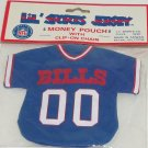Buffalo Bills Jersey Money Pouch Key Ring Clip on Chain NFL Football Sports