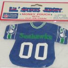 Seattle Seahawks Jersey Money Pouch Key Ring Clip on Chain NFL Football Sports