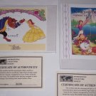 Disney Postage Stamps Beauty & the Beast  Belle & Beast Dancing St Vincent