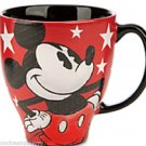 Disney Mickey Mouse Coffee Mug Cup Red White New