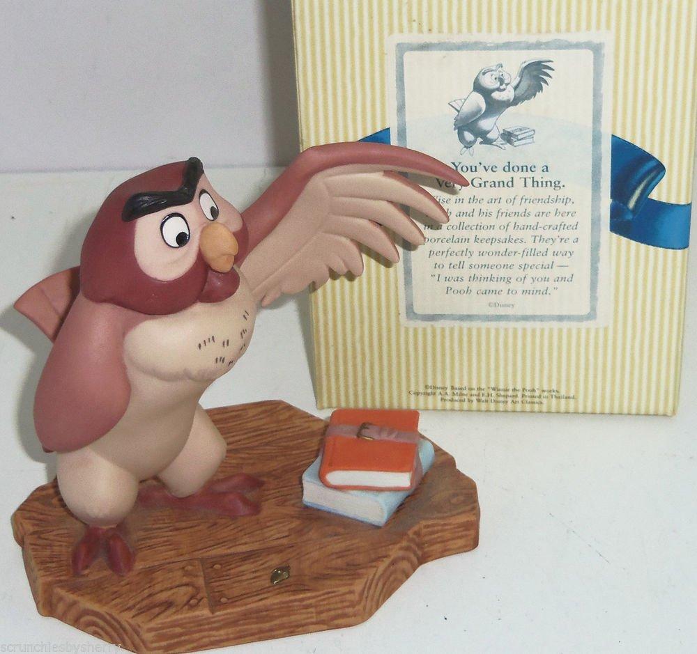 Disney Winnie Pooh Owl Figurine You've done a Very Grand Thing