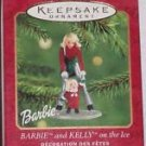 Barbie Kelly Ornament Ice Skating Hallmark Christmas 2001 Vintage