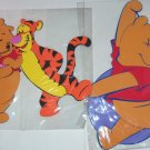 2 Disney Pooh Tigger Balloon Wall Decor Foam Decorations Kids Room Playroom NIP