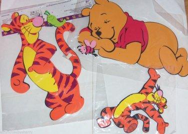 4 Disney Winnie Pooh Tigger Wall Decor Foam Decorations Kids Room Playroom NIP