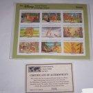 Disney Bambi Animal Stories Postage Stamps Bambi Grenada Vintage Retired