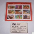 Disney Fox Hound Animal Stories Postage Stamps Grenada Vintage Retired