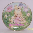 Kitten Companions Cats Girl Blessed Are Ye Collector Plate Danbury Mint Retired