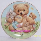 Storybook Pals Teddy Baby Rabbit Blessed Are Ye Collector Plate Danbury Mint