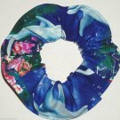 Dolphins Reef Fish Royal Blue Fabric Hair Ties Scrunchie Scrunchies