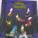 7 Disney Villains Shoes Trading Pins Queen Hearts Ursula Maleficent Theme Parks