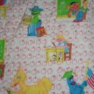 Sesame Street Twin Comforter Big Bird Cookie Monster Oscar Bert Apples School