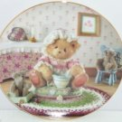 Cherished Teddies Collector Plate Little Miss Muffet Teddy Bear Vintage Hamilton