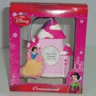 Disney Princess Snow White Ornament Photo Frame Castle Christmas Pink Sparkle