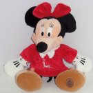 Disney Store Minnie Mouse Christmas Plush Toy  Red Gown Exclusive Original